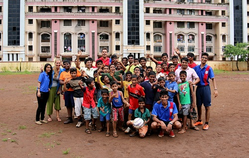 Fun soccer @ Jan Vikas Society Orphanage Mumbai, India
